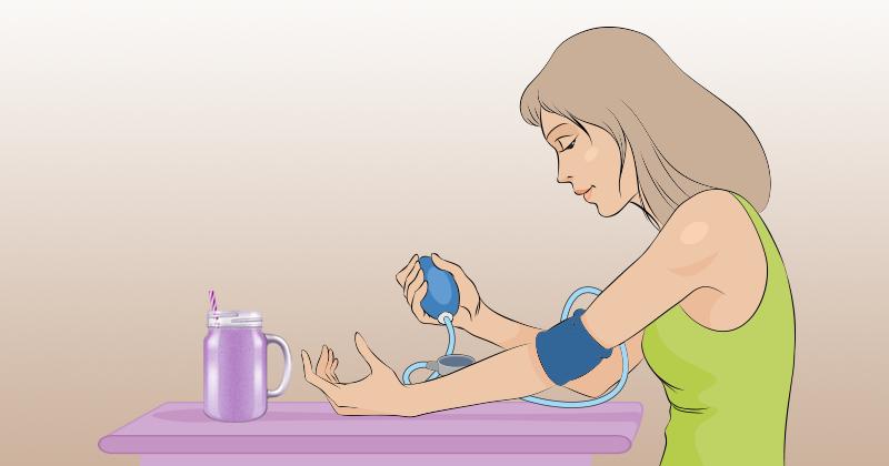 שייק אוכמניות לטיפול בלחץ דם