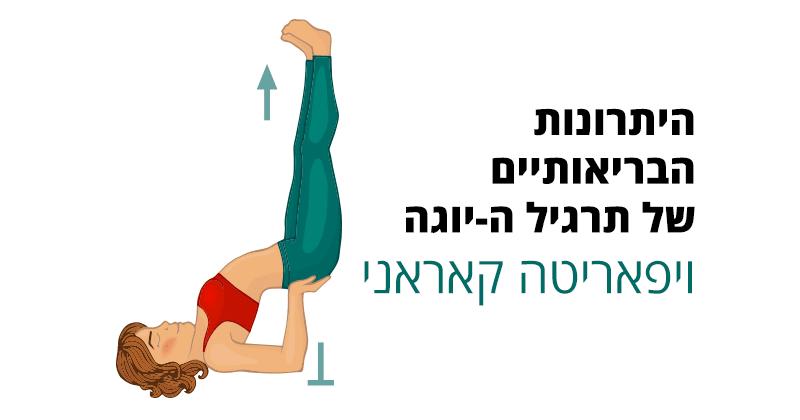 תרגיל יוגה viparita karani