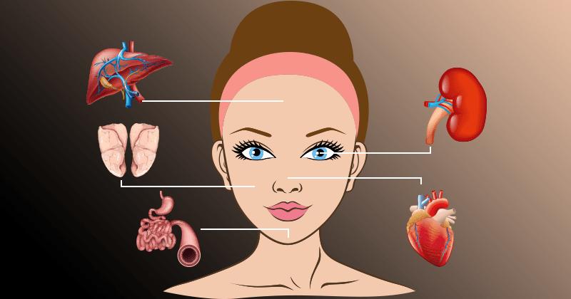 מפת הפנים מראה לכם באיזה איבר בגוף יש בעיה!