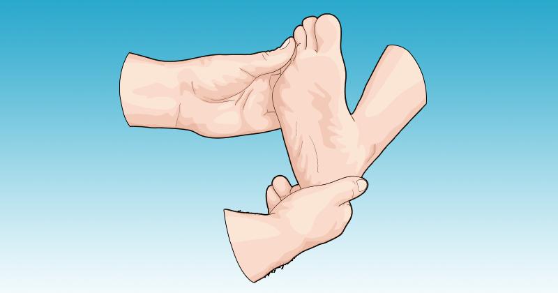 עסו את כפות רגליכם לפני השינה ותפעילו את הקסם על בריאותכם