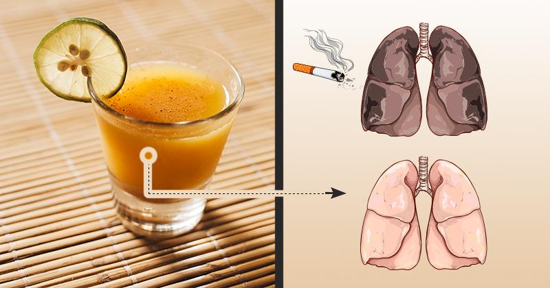 המשקה הזה ינקה באופן יסודי את הריאות שלכם מניקוטין