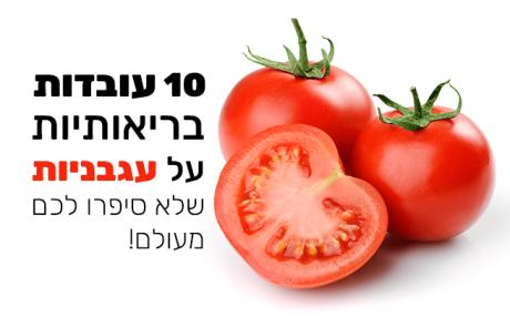 עגבנייה – 10 עובדות בריאותיות שלא סיפרו לכם עליה מעולם